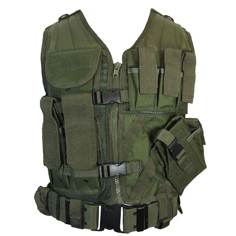 Vest Millitery Olive Green Tactical Vest Combat Assault Airsoft Army