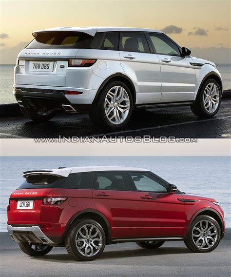 range rover evoque back 2016 range rover evoque facelift vs 2015 evoque old vs new