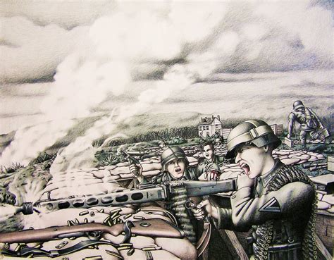 D Day Sketches by The Gods Of D Day Heinrich Severloh By Theakker5 On