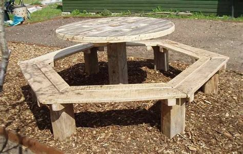 wire spool bench cable spool outdoor table electric wire spools