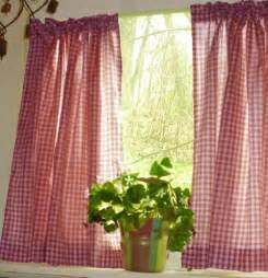 Red Plaid Kitchen Curtains by Red Gingham Kitchen Caf 233 Curtain Unlined Or With White Or