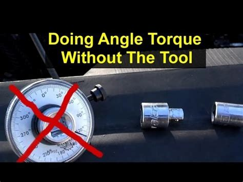angle stop removal tool how to angle degree torque without a special tool