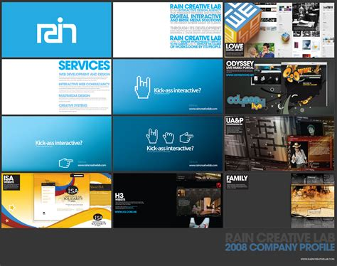 creative company profile layout rain creative company profile by jpdguzman on deviantart