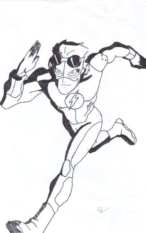 coloring pages of kid flash kid flash by endeverafter22 on deviantart