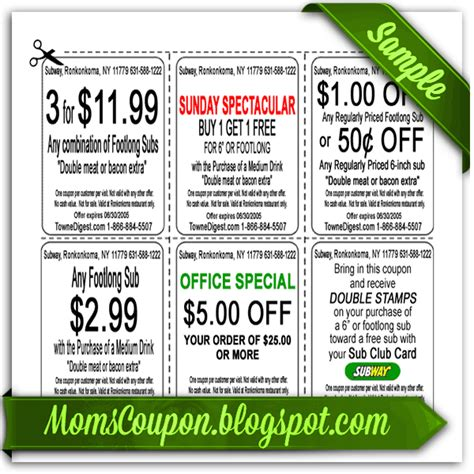 subway printable coupons blogspot more ways to get coupons for subway free printable
