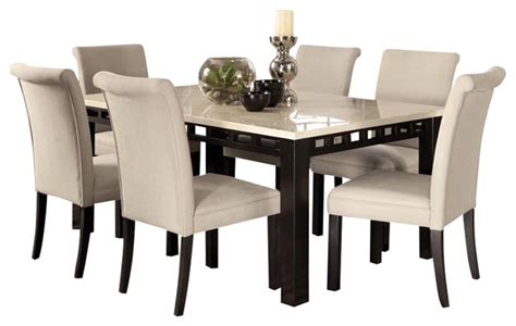 furniture round modern dining tables with parson dining gateway 7 piece dining room set with parsons chairs white