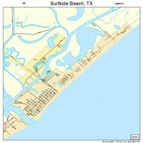 texas beaches map surfside texas map images