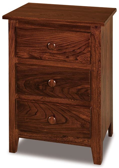 Amish Nightstands by Shaker Small Three Drawer Nightstand From Dutchcrafters Amish