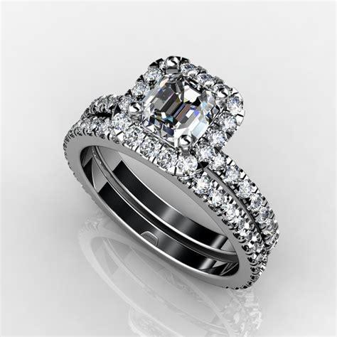 top halo engagement ring wedding band with weddingbee