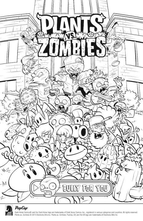 plants vs zombies coloring pages games free online plants vs zombies coloring page fun coloring