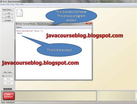 pattern programs in bluej programs in bluej ide java course learn java java