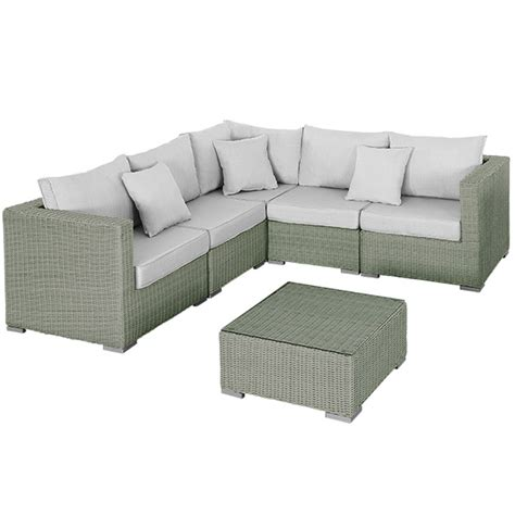 grey corner sofa and armchair rattan corner 5 seater sofa and armchair with 70cm table