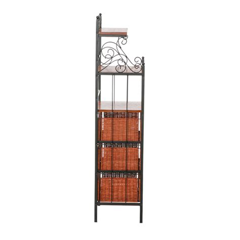 Bakers Rack With Drawers by Sei Manilla 3 Drawer Rattan Baker S Rack