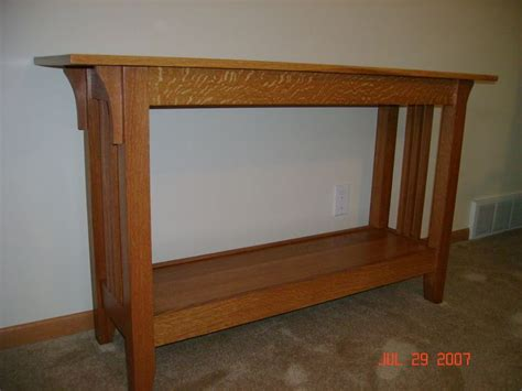 sofa table woodworking plans craftsman sofa table by jerif lumberjocks com