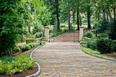 Modern Baseboard driveway entrance gates landscape traditional with