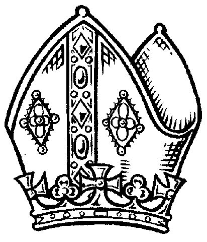 pope hat coloring page hat clipart bishops pencil and in color hat clipart bishops