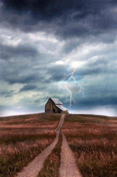barn  lightning storm photograph  jill battaglia