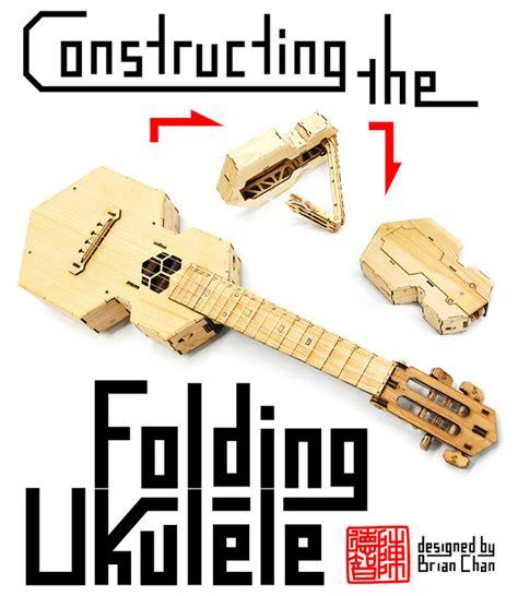 Origami Instruments - origami expert creates folding ukulele kits geekologie