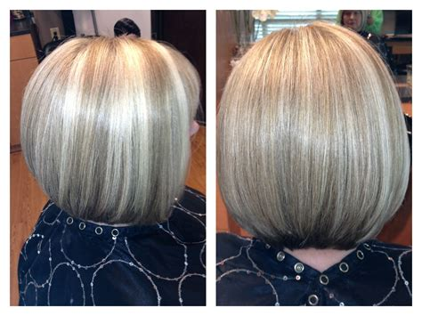 chocolate hair color with highlights for angled bobs blonde angled bob with highlights and lowlights hair by