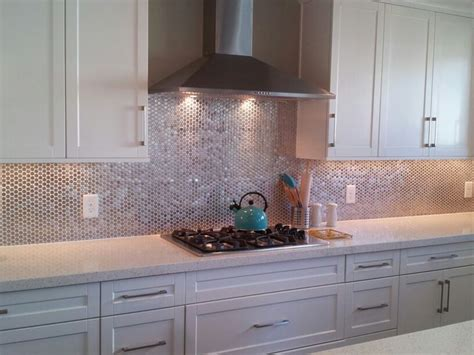 metallic kitchen backsplash love the metallic backsplash metal backsplash pinterest