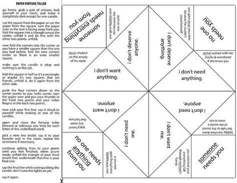 Fortune Teller Origami Sayings - fortune teller quotes quotesgram