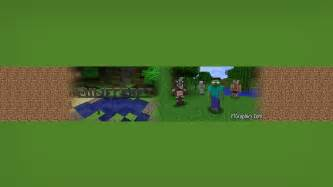 Minecraft Channel Template by Minecraft Channel Channel Banners