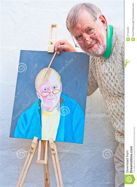 free selfportrait stock photo freeimages painting a self portrait in oils royalty free stock image image 27144426