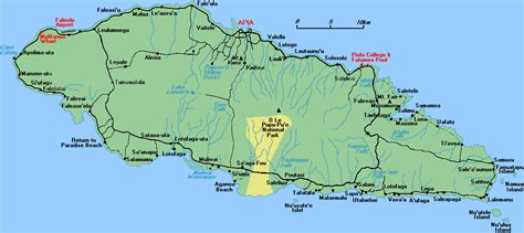 samoa on a world map detailed road map of western samoa western samoa detailed