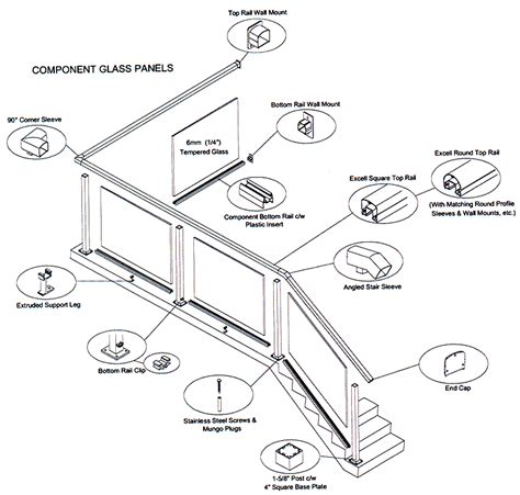Handrail Components Component Glass Railing System