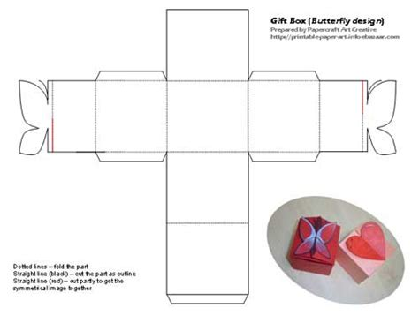 Butterfly Box Template Bersatu Di Sini Gift Box With Love And Butterfly Shape Design