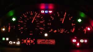 bmw e46 dash light up trick shows all warning lights