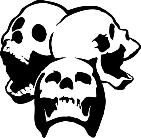 printable skull template skull stencil clipart best