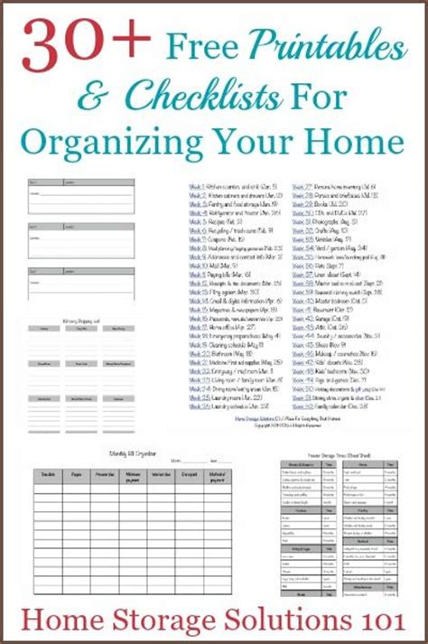 printable home organization lists how to get organized printables checklists to help you