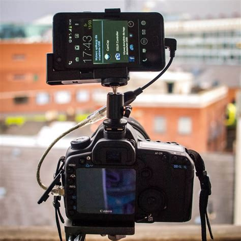 Otg Kamera give your dslr a brain by connecting an android phone