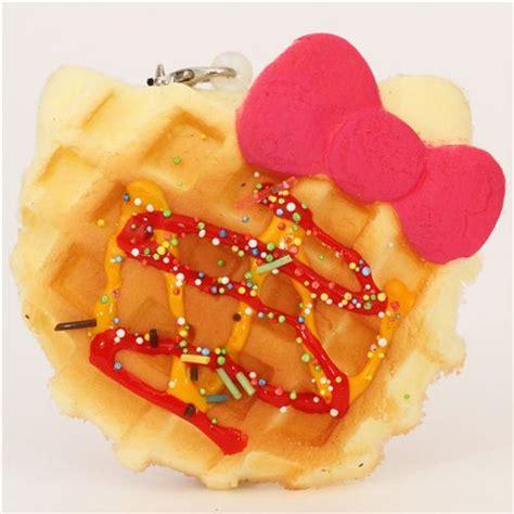 Squishy Hello Waffle hello waffle pink bow squishy charm food squishies