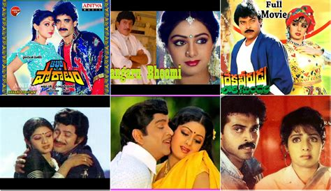 sridevi hits tributes to sridevi hit telugu songs featuring her with