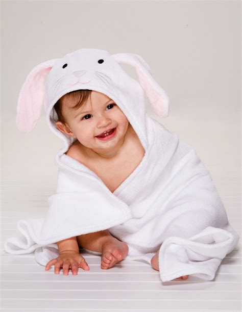 personalized hooded baby towel bunny