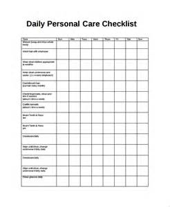 daily checklist template sle daily checklist 14 documents in word pdf