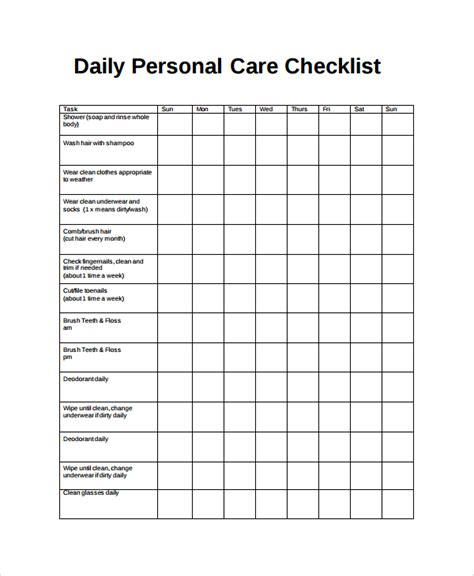 sle daily checklist 14 documents in word pdf