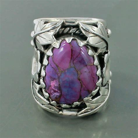purple turquoise gemstone february birthstone vintage ring