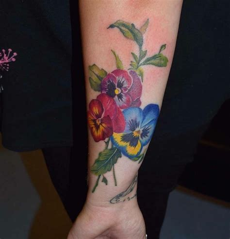 pansy flower tattoo the 25 best pansy ideas on pansy
