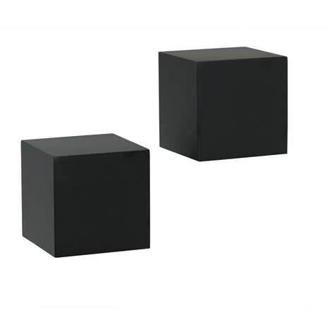 Wall Shelf Cubes by Knape Vogt 5 In W X 5 In D Wall Mounted Black Wall Cube