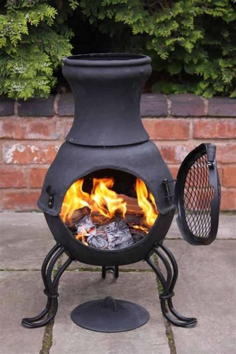 Patio Heater Wood Burning by Cast Iron Chimenea Chiminea Garden Patio Heater Barbeque