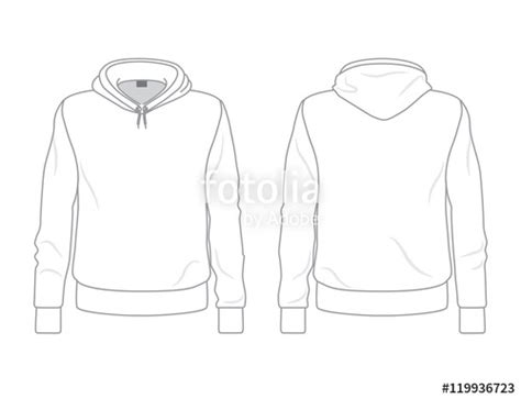 hoodie template quot s hoodie template front and back view quot stock image