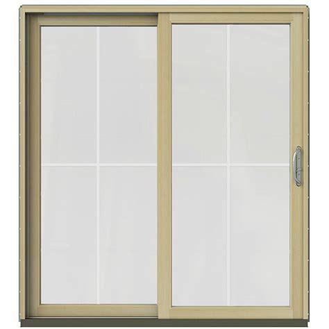 Masterpiece Patio Doors Masterpiece 71 1 4 In X 79 1 2 In Composite Woodgrain Interior Left 15 Lite Grilles