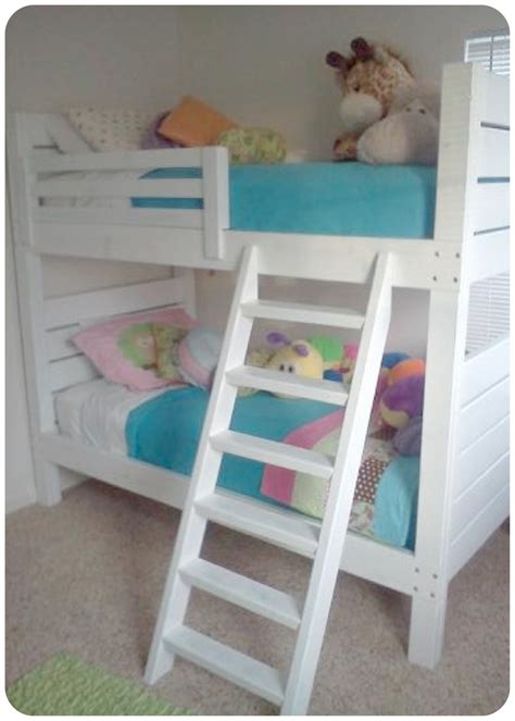 How To Build Bunk Bed Ladder White Side Bunk Beds Modified Ladder Diy Projects