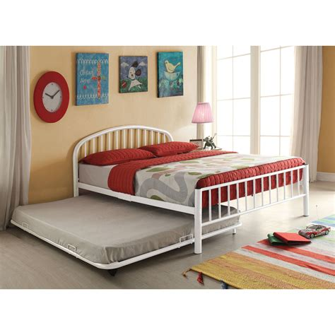 White Bed With Trundle by Cailyn Bed With Trundle White Walmart