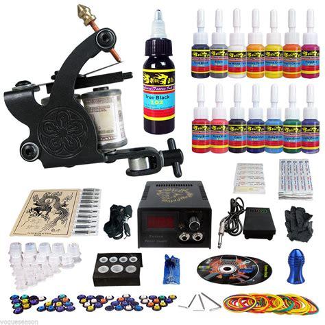 tattoo machine kit uk complete tattoo kit 1 tattoo machine guns set 14 ink power