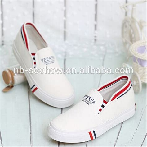 cheap plain white canvas slip on shoes wholesale buy