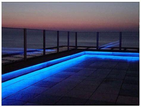 blue outdoor lights outdoor lighting projects using linear lights birddog